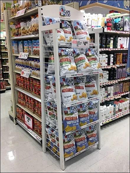 Cap Cod Potato Chip White Rack Display