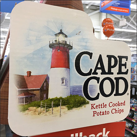 Cape Cod Rowboat Potato Chip Display
