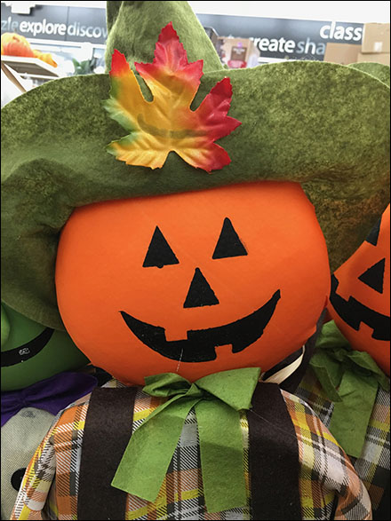 Fall Pumpkin-Head Scarecrow Merchandising