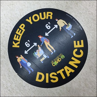 CoronaVirus Keep-Your-Distance Floor Graphic