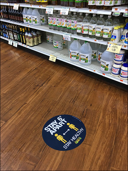 CoronaVirus Stay-Apart Stay-Healthy Floor Graphic