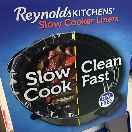 Reynolds Cooker Liners Corrugated Display