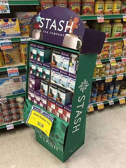 Stash Tea Company Corrugated Display