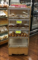 Portuguese-Roll Wood Bakery Rack