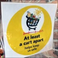 CoronaVirus Cart-Apart Sanitizer Reminder