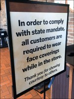 CoronaVirus State-Compliance Face Mask Sign