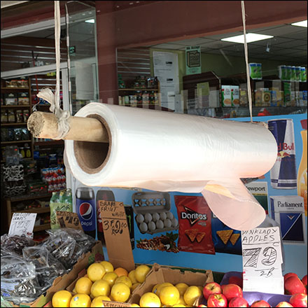 Do-It-Yourself Produce Bag Dispenser