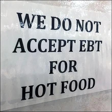 No EBT Hot Food Notice