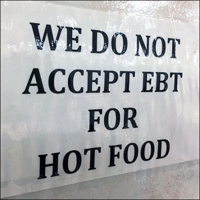 No EBT Hot Food Notice