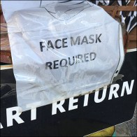 Cart Return Face Mask Reminder