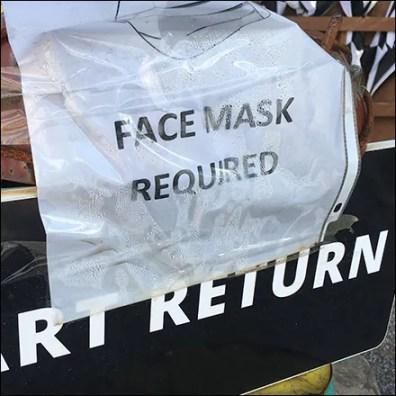 Cart Return Face Mask Reminder