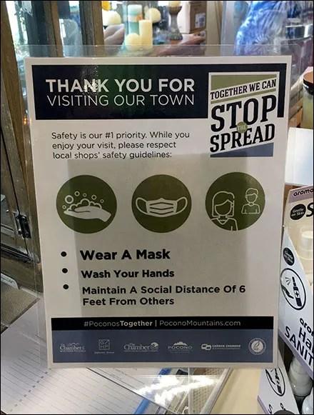 CoronaVirus Thanks-For-Shopping Local Sign