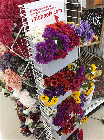 Colorful Flower Powerwing Corrugated Display