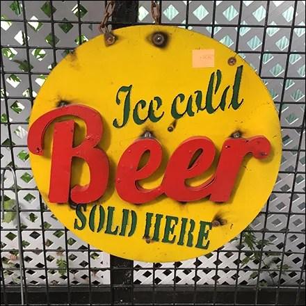 Ice-Cold-Beer Vintage Sign