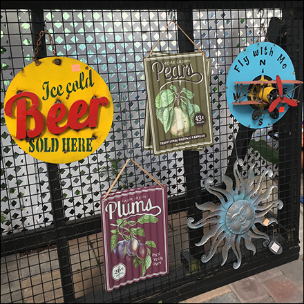 Vintage Sign Gridwall Merchandising Display