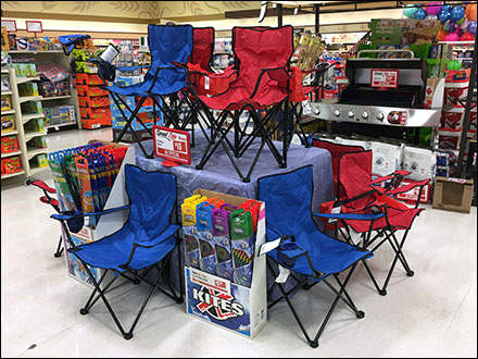 Lawn Chair Pyramid Merchandising