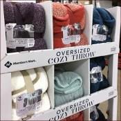 Oversized Cozy Throw Blanket Display