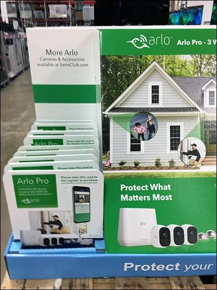 Arlo-Pro Security Pick-Card Pallet Display