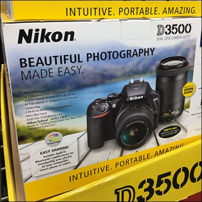 Nikon D3500 DSLR Camera Display