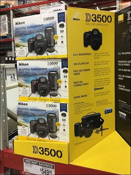 Nikon D3500 DSLR Camera Display