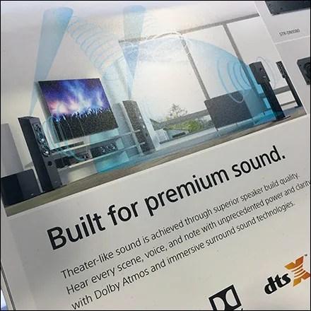 Sony Immersive Sound Speaker Display Square