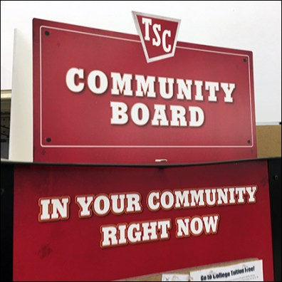 TSC In-Store Community Bulletin Board