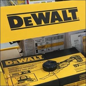 DeWalt Guaranteed-Tough Corrugated Display