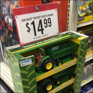 John Deere Corrugated-Powerwing Display