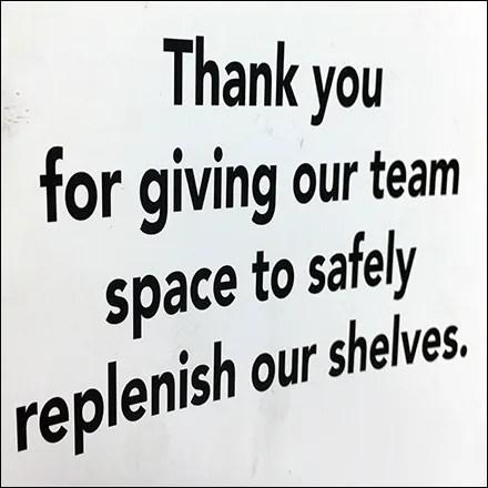 CoronaVirus Restocking Team Thank You