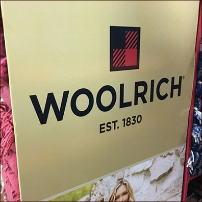 Woolrich Cozy Blanket Wrap Display