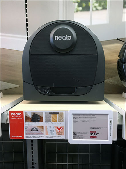 Neato Robot Shelf-Display Merchandising