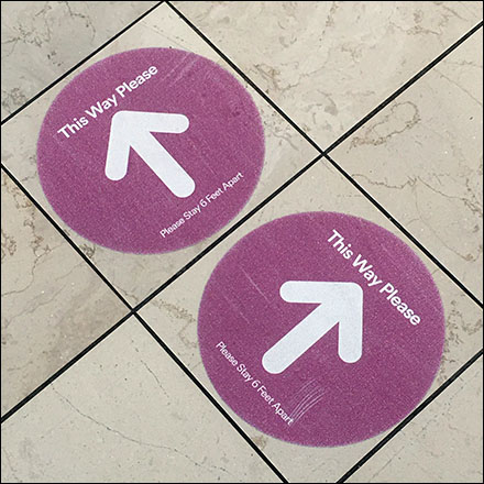 Simon Properties CoronaVirus Mall Floor Graphics
