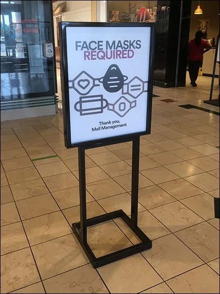 Simon Properties Coronavirus Mall Masks Required