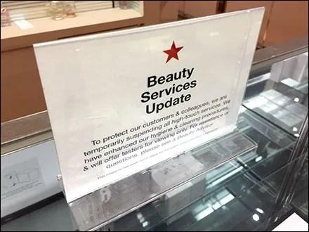 Macy's Beauty Services CoronaVirus Update
