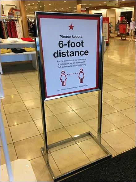 Macy's CoronaVirus Please Distance Sign