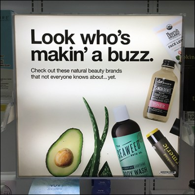 Natural Beauty Making Buzz Display