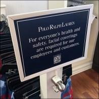 Ralph Lauren CoronaVirus Multilingual QR-Code Notice