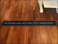 Ralph Lauren CoronaVirus Linear Floor Graphic