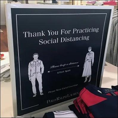 Ralph Lauren CoronaVirus Polo-Shirt Social Distancing Feature