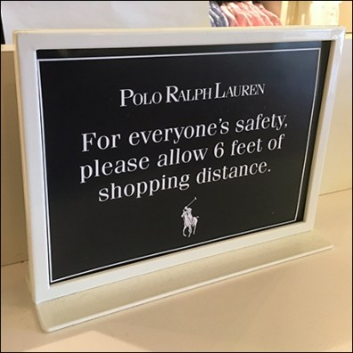 Ralph Lauren CoronaVirus Service Counter Caution