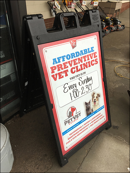 Affordable Vet Clinic Sidewalk Sign