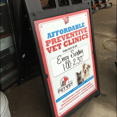 Affordable Vet Clinic Sidewalk Sign