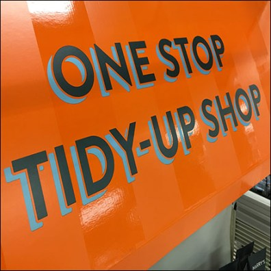 Harry's One-Stop Tidy-Up-Shop Endcap