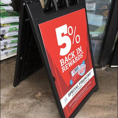 Money-Back Rewards Sidewalk Sign