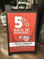 Money-Back Rewards Sidewalk Sign