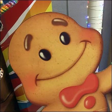 Gingerbread Man Presenter Signboard