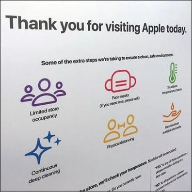 Apple CoronaVirus Store-Entry Visitor Regime