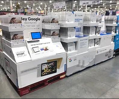Hey Google Three Pallet Merchandising