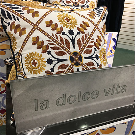 La Dolce Vita Tapestry Pillow Display