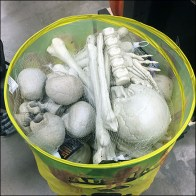 Halloween Pop-Up Radioactive Bone Barrel